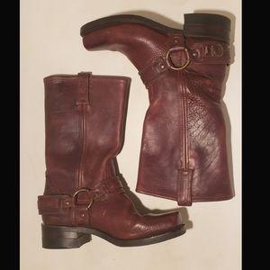 Frye Shoes - Women's Frye 12R Belted Harness Motorcycle Boot